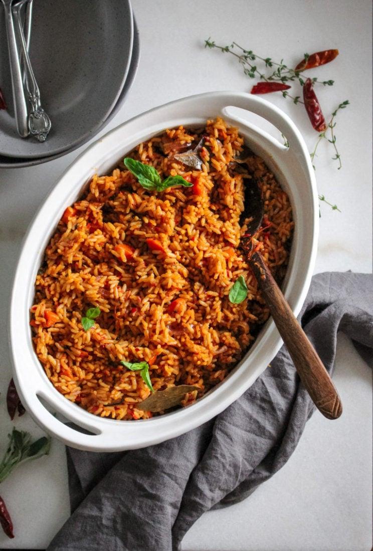 Smoky Nigerian jollof rice