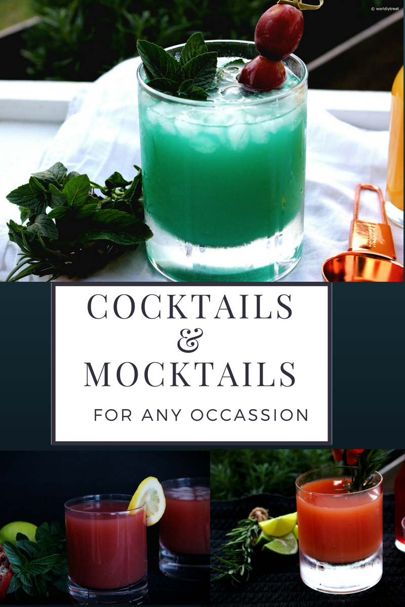 COCKTAILS AND MOCKTAILS FOR ANY OCCASION