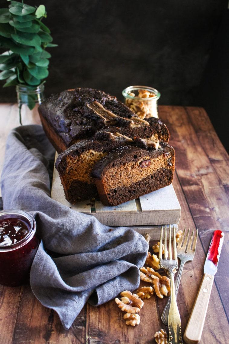 whole wheat chocolate poppy seed banana bread
