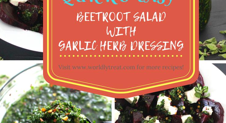 BEETROOT SALAD WITH GARLIC HERB DRESSING