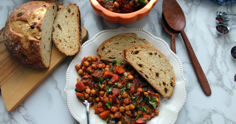 STEWED GOAT WITH CHICKPEAS -Moroccan style