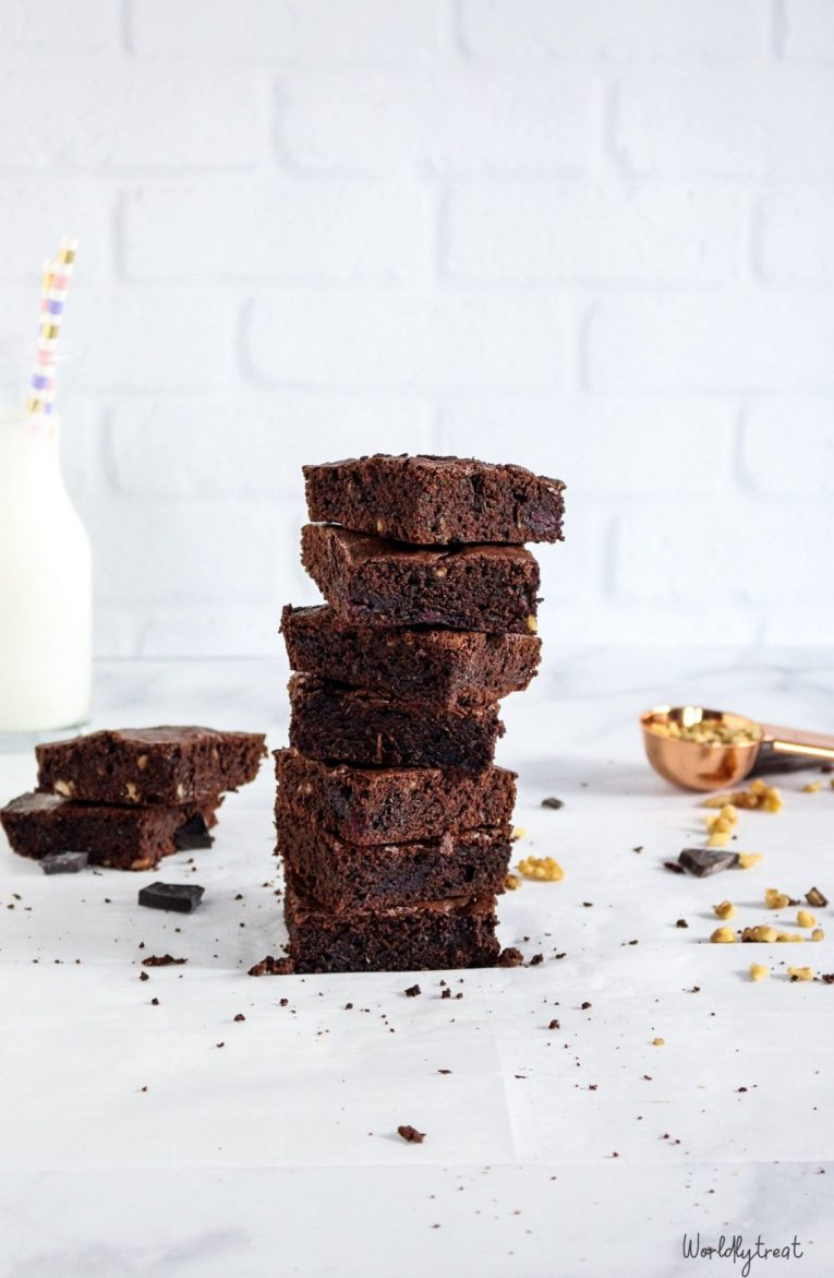 Double chocolate Zucchini & beets Fudgy brownie