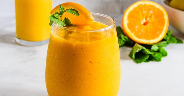 Mango Summer Cooler-Easy Mango Smoothie
