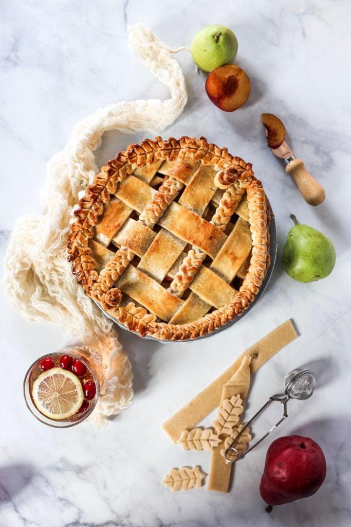 Easy apple pear pie