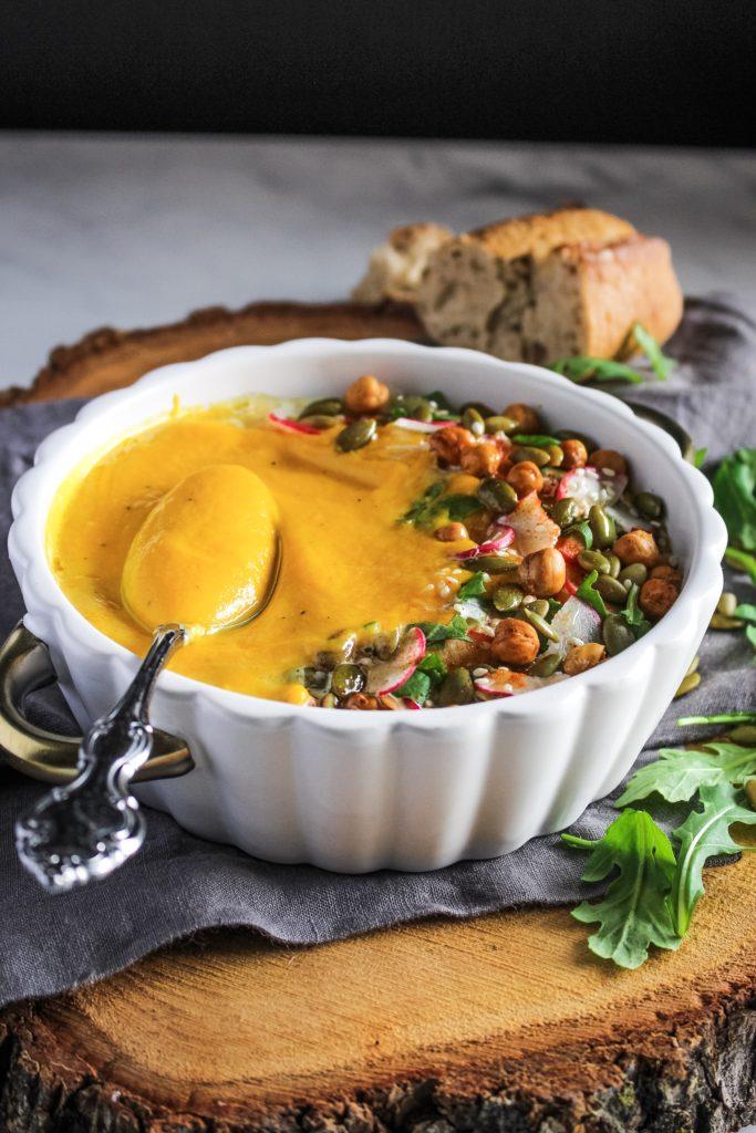 smoky vegan golden soup