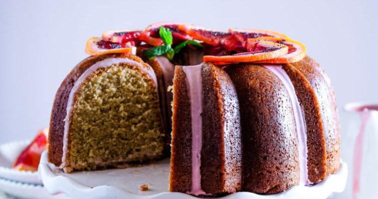 Blood Orange Poppyseed Bundt Cake