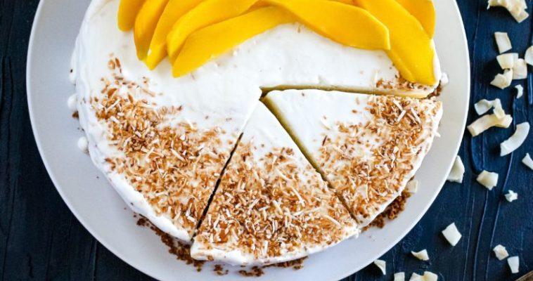 Coconut-Mango Ice cream Pie