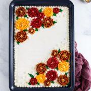 apple-pumpkin sheet cake with maple buttercream frosting 4