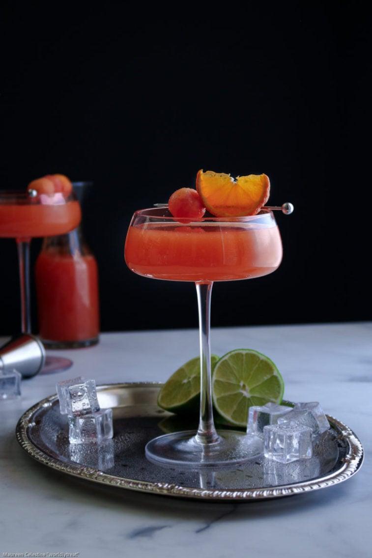 Papaya Mandarin Rum Cocktail-020