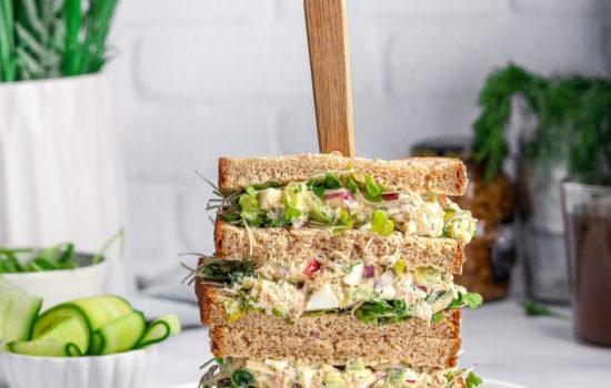 TUNA CUCUMBER SALAD SANDWICH (no Mayo)