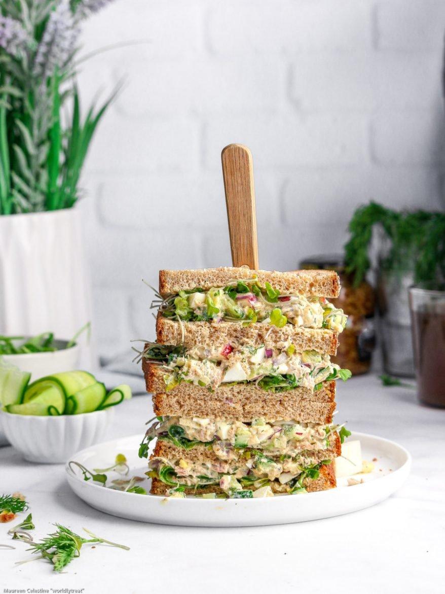 TUNA-EGG-SALAD sandwich