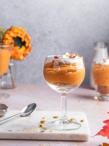 A cup of Coconut cream pumpkin mousse