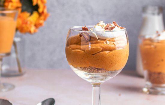 Coconut cream pumpkin mousse